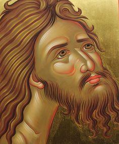 technical hagiography Religious Images, Religious Icons, Religious Art, Byzantine Icons, Byzantine Art, Jesus Face, John The Baptist, Orthodox Icons, Sacred Art