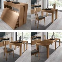 "Fantastic ""counter height table round"" detail is offered on our website. Check it out and you wont be sorry you did. Tiny House Furniture, Smart Furniture, Space Saving Furniture, Resource Furniture, Expandable Dining Table, Multifunctional Furniture, Dinning Table, Home And Living, Diy Home Decor"