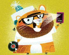 """다음 @Behance 프로젝트 확인: """"Hipster Hamster!"""" https://www.behance.net/gallery/32523109/Hipster-Hamster"""