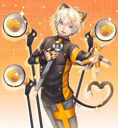 Shine by on DeviantArt Hatsune Miku, Neko Boy, Vocaloid Characters, Mikuo, My Children, Kawaii, Fan Art, Manga, Cool Stuff