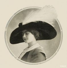 1910 Vogue - If only it was 'in vogue' to still be wearing hats like this! I would be one happy girl!!