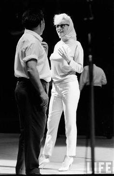 1962: Marilyn rehearsing for John F. Kennedy's birthday gala.