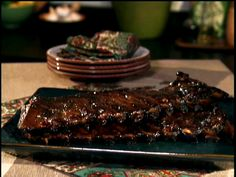 Honey-Mustard Glazed Ribs in Oven and Broiler Recipe : Bobby Flay : Food Network - FoodNetwork.com