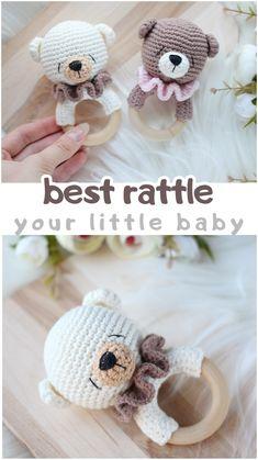 Gender Neutral Baby Shower, Baby Shower Themes, Baby Shower Gifts, Baby Gifts, Crochet Pouf, Crochet Baby, Newborn Toys, Baby Toys, Crochet Ideas