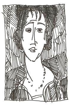 Modigliani Portrait Two from Dinner in the Labyrinth