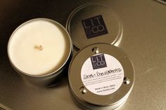Natural Soy Candle 8oz  Sage Pomegranate by LitandCo on Etsy, $15.00