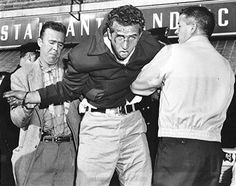 Anthony Antico (now a captain in the Genovese family) arrested in 1955 at age 20. They fled and crashed their car after a failed stickup at a fur shop.