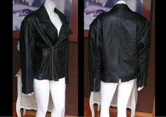 Vintage Men's 1980s does 1950s Black Motorcycle Jacket Cafe Racer Biker Jacket Size Medium by WestCoastVintageRSL, $128.00