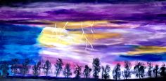 """""""Four Lightning Strikes"""" by Kelley R.  Beautiful artwork from ARC of the Capital Area"""