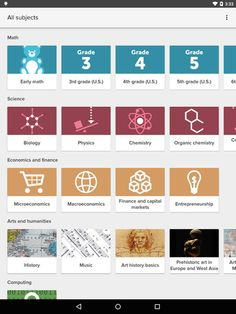 Sabías que Disponible la aplicación oficial de Khan Academy para Android (versión beta)