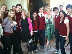 Glee Cast and JK :D
