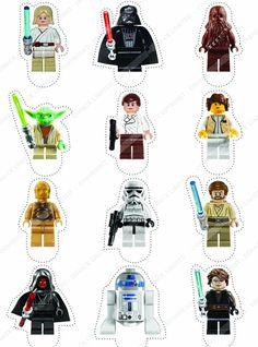 12 × Décorations Cakeshop comestibles PRÉ-DÉCOUPÉES Lego Star Wars: Amazon.fr: Cuisine & Maison