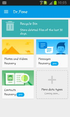recover deleted android data with dr.fone