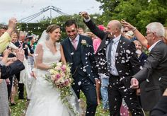 Post Ceremony in The Walled Garden at Sedgeford Hall Norfolk Wedding and Event Venue - Holiday Cottages