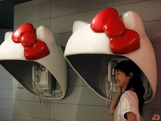 telephone kitty booths!
