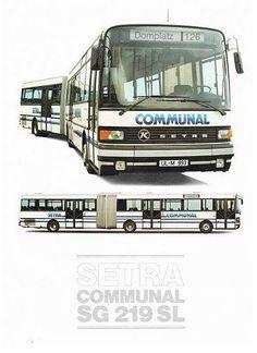 #1985 #SETRA #SG219SL #Communal  #BUS #Busworld #SETRA ( #1911 #Karl #Kässbohrer #Fahrzeugwerke #GmBH) #Daimler_AG #DE