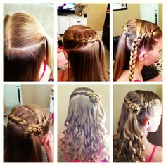 Girls hair! Braid and curls.