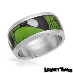 Looney Toons Marvin the Martian Stainless Steel Ring  9.25  Comic-Con