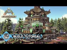 Ark: Survival Evolved - How to build a Treehouse - Homestead build tutorial (No Mods) Ark Survival Evolved Tips, Game Ark, Conan Exiles, Cool Dinosaurs, Building A Treehouse, Minecraft Plans, Magic Forest, Real Plants, Fun Hobbies