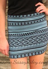 Follow The Arrows To Me Tribal Mini -- Blue