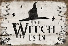 Halloween wooden sign. The Witch is in by DesignHouseDecor