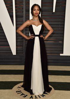 Zoe Saldana | Y aquí está lo que cada quien llevó puesto en las fiestas después de los Oscares