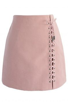 Lace-up Tribe Bud Skirt in Pink - Retro, Indie and Unique Fashion