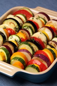 Summer Vegetables Tian...DMR: Another Tian recipe...13 x 9...anxious to try these as stir frying is taking a long time for the amount of veggies I do for six adults...