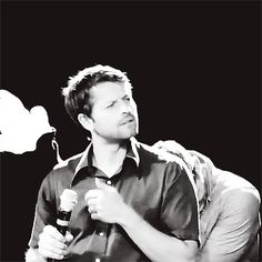He's just so cute. aw, Jensen :'D …here it srsly looks like Misha's the only thing that exists :'D