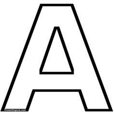 Moldes de letras grandes para imprimir abecedario - Imagui                                                                                                                                                                                 Más