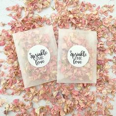 Our frosted packets and stickers are biodegradable and compostable. These packets include natural petals. Each packet includes of confetti which is a handful and suitable for one per person. Biodegradable Confetti, Biodegradable Products, Paper Confetti, Confetti Ideas, Wedding Schedule, Wedding Confetti, Delphinium, Happy Moments, Are You Happy