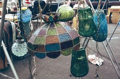 Glass Lamps at Rose Bowl Flea Market - California on the mind - Nalata Nalata