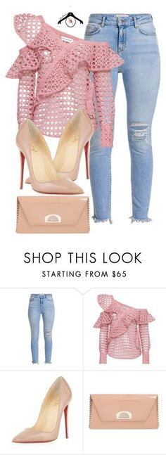 """After Church Swag"" by spivey-adrian ❤ liked on Polyvore featuring self-portrait and Christian Louboutin"