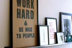 photo arrangement? you could also print out sayings you like and frame them. the nice thing about a shelf is it allows for a variety of objects, not just framed photos on it