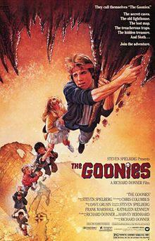 Goonies defines that child in all of us. When adults remember Goonies they remember what it was like to have fun and adventures with their friends. Goonies was one of the biggest in the 80s Movie Posters, Classic Movie Posters, Classic Movies, Vintage Movie Posters, Old Film Posters, Original Movie Posters, Great Films, Good Movies, 1980's Movies