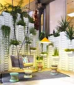Vertical garden in drawers