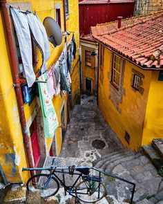 Somewhere in Porto by: deensel Santorini, Visit Porto, Porto City, Away We Go, Beautiful Places To Travel, Portuguese, Wall Design, Street Photography, The Incredibles