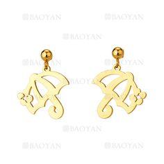 pendientes de paraguas dorado acero para mujer -SSEGG954531
