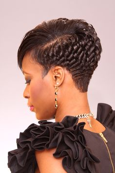 Cut and Curl. Short Relaxed Hairstyles, Chic Short Hair, Short Sassy Hair, Dope Hairstyles, Pretty Hairstyles, Short Hair Cuts, Braided Hairstyles, Curly Hair Styles, Natural Hair Styles