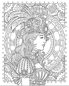 Colouring Pages, Adult Coloring Pages, Coloring Sheets, Coloring Books, Mandala Coloring, Digital Drawing, Steampunk Animals, Colorful Quilts, Retro Futuristic