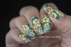 Nicole Diary - Full Nail Flower Pattern Water Decals full nail water decal oil painting design idea #nails #nailart #nailit #nailpromote #beauty #blogger #manicure #nailsoftheday #notd #nailed #nailedit