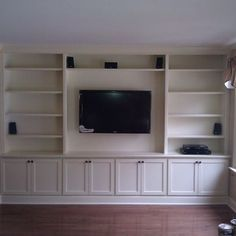 Built-In with Wall Hung TV - traditional - living room - philadelphia - A-K Custom Interiors