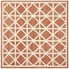 Safavieh Hand-woven Moroccan Reversible Dhurrie Red/ Ivory Wool Rug (8' Square) - Overstock™ Shopping - Great Deals on Safavieh Round/Oval/Square
