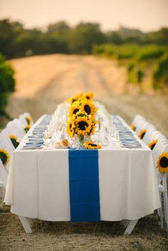 Sunflower wedding theme