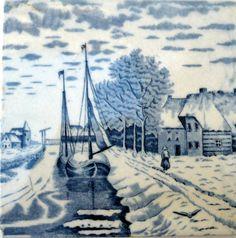 Vintage   Dutch Ceramic Tile by CostaSul on Etsy, €14.25