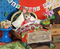 MousesHouses: Get Well Soon! Needle Felted Animals, Felt Animals, Needle Felting, Maus Illustration, Moise, Felt Mouse, House Mouse, Get Well Soon, Country Crafts