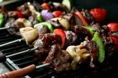 Food and Drinks at Dickey's Barbecue Restaurants (Up to Off). Three Options Available. Lamb Skewers, Shish Kabobs, Kebabs, Bbq Skewers, Restaurant Barbecue, Bbq Sticks, Brazilian Bbq, Catering, Marinate Meat