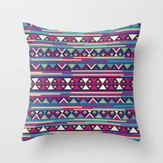 AZTEC PATTERN Throw Pillow by Nika  - $20.00