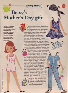 Betsy's Mother's Day gift...May 1993
