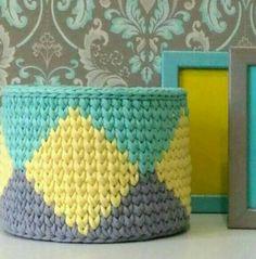 Crochet Circle Pattern, Crochet Basket Pattern, Crochet Circles, Crochet Patterns, Crochet Bowl, Crochet Amigurumi, Crochet Yarn, Knitting Yarn, Crochet Storage